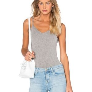 FREE PEOPLE grey bodysuit